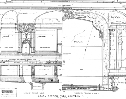 Loews kings theatre part one building and opening after the blueprints for the auditorium of the kings malvernweather Gallery