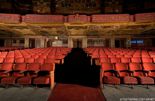 A look back at the auditorium exits