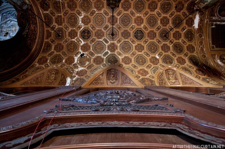 The lobby's ceiling.