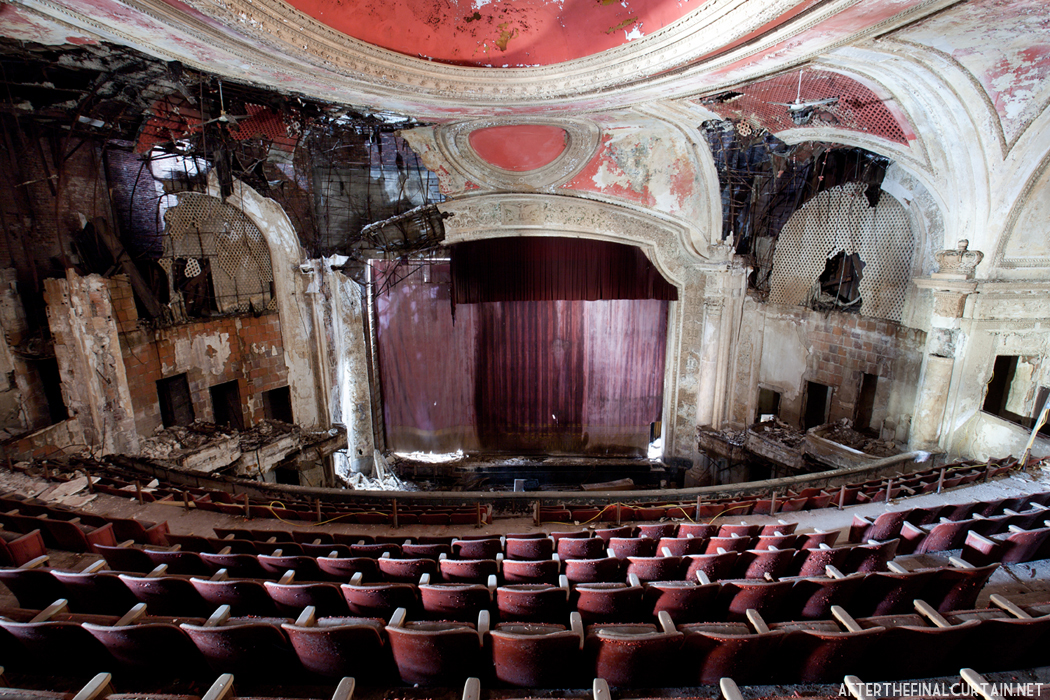 The newark paramount theatre after the final curtain for New york balcony view