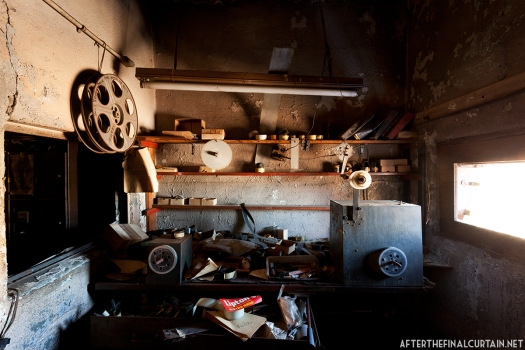 The film rewinder was most likely installed during the 1957 renovation.