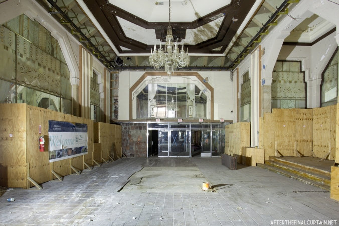 The large mirrors in the Boyd's lobby are some of the art deco features that will be preserved.