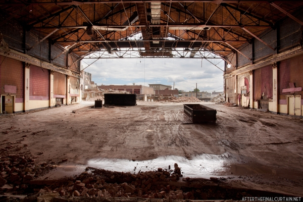 """Auditorium during demolition, Montauk Theatre, Passaic, New Jersey 12""""x18"""" - 3 16""""x24"""" - 3"""