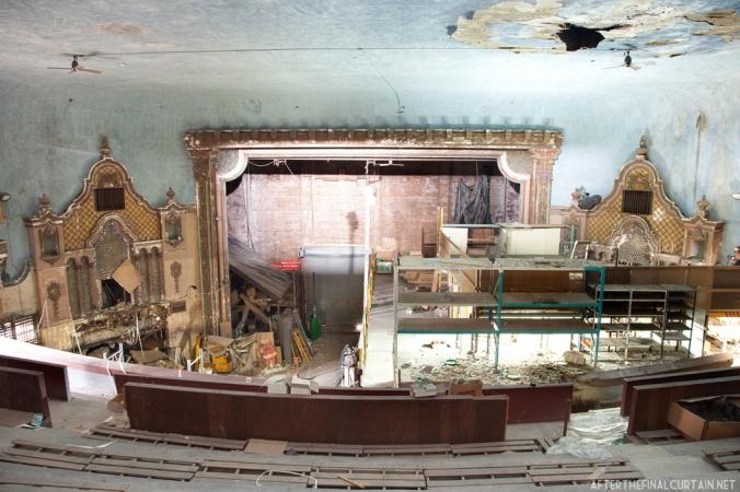 The paramount theater balcony