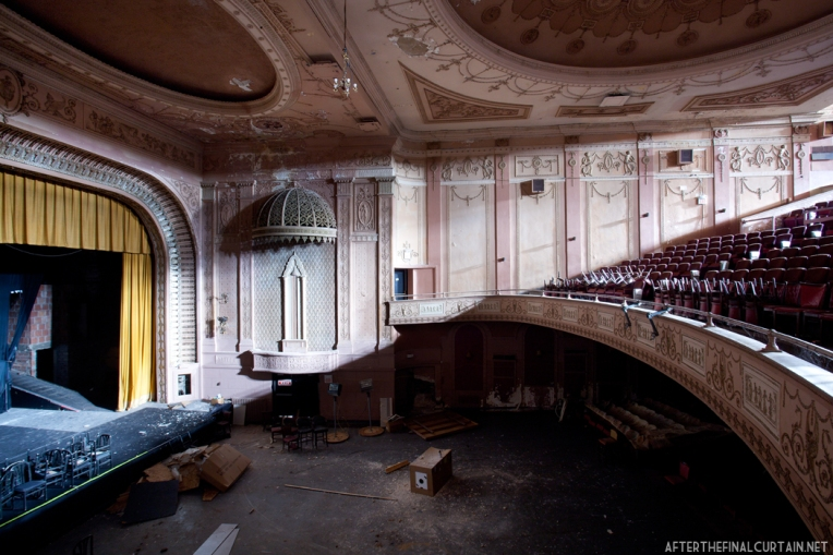 View of the auditorium from the side of the balcony.