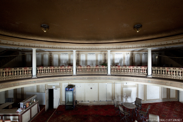 View of the lobby from the mezzanine.