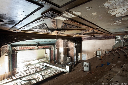 Heating ducts were added to the balcony when the theater was converted into an office space.
