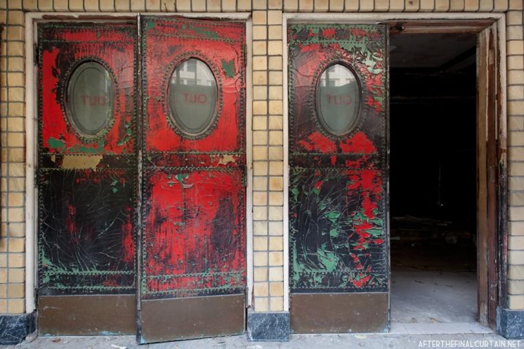 A closer look at the exit doors.