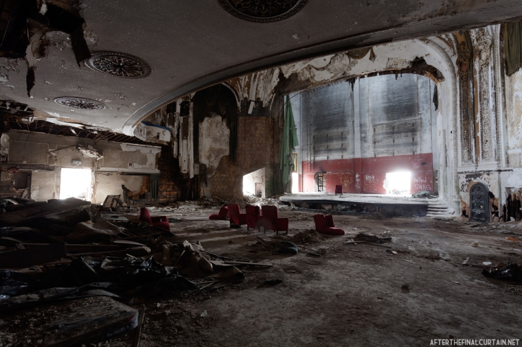 View from the main level of the auditorium.