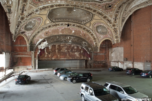 A look at the remains of the auditorium from the back of what used to be the balcony.