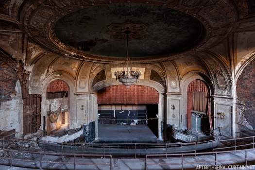 View of the auditorium from the center of the balcony.