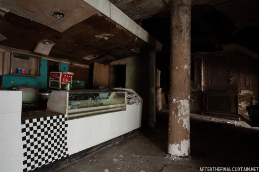 The snack bar was added years after the theater opened.