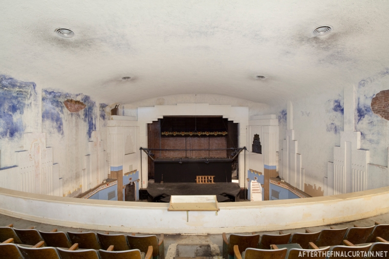 View of the auditorium from the balcony.