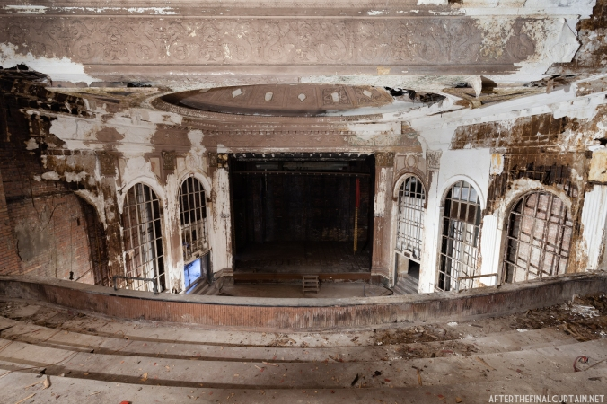 All of the seats have been recently removed due to the upcoming restoration.