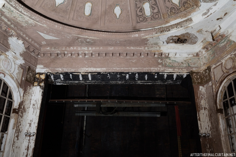 The theater's proscenium arch was also water damaged while the theater was closed.