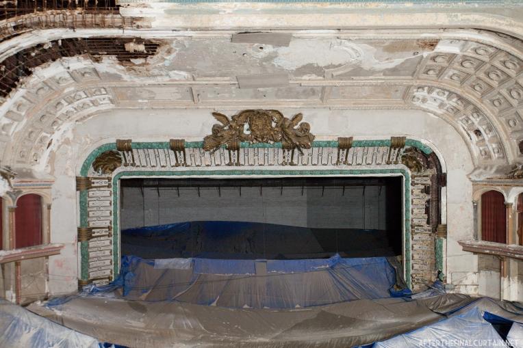 The theater's proscenium arch.