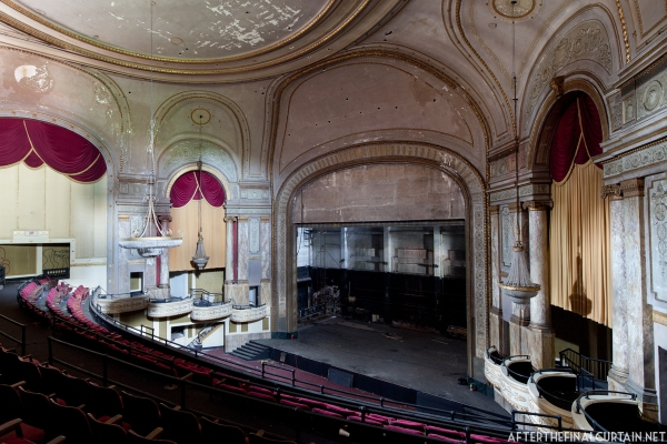View of the auditorium from the side of the mezzanine.