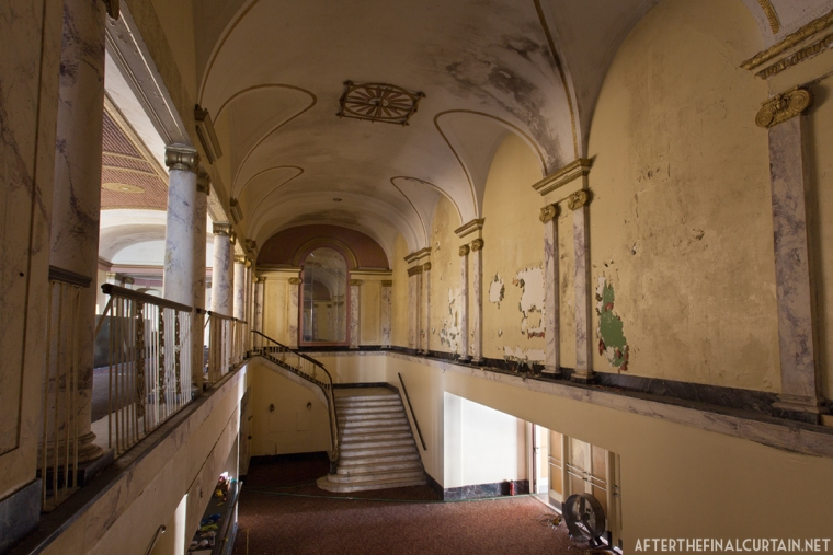 The lobby was restored in the early 90's, but has already begun to visibly deteriorate.