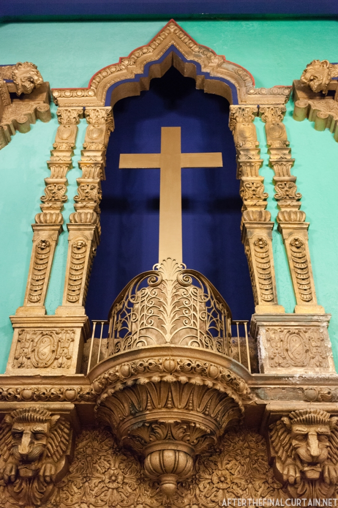This cross is one of the small alterations that the Tabernacle of Prayer for All People has made to the theater over the years.