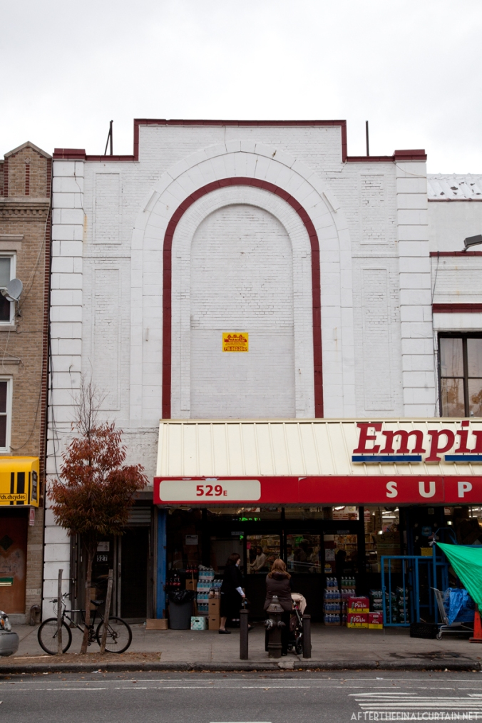 The exterior of the building.