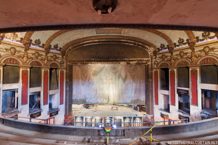 View of the auditorium from the mezzanine.