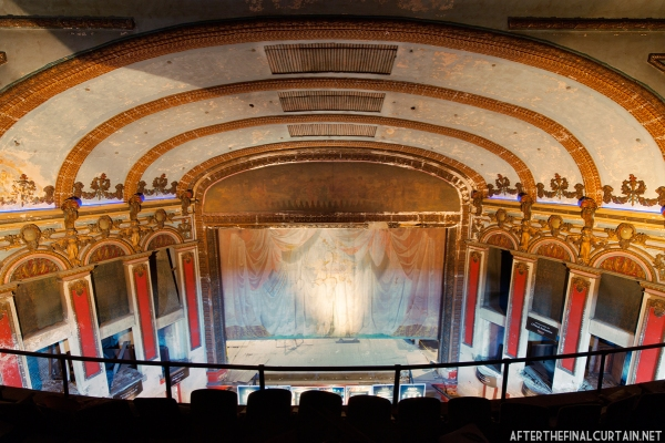 View from the upper balcony of the Lyric Theatre.