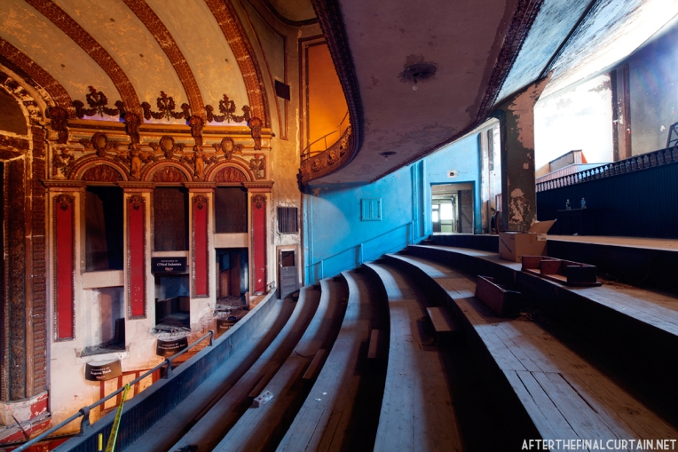 View of the side of the auditorium from the mezzanine.