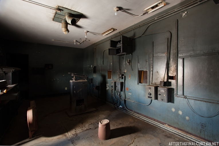 The remains of the projector room.