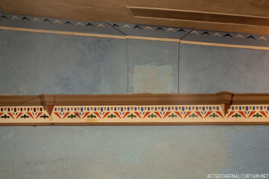 A close-up of some of the details on the wall of the main level.