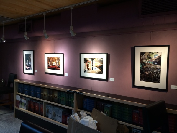 Prints hanging at the Jean Cocteau Gallery in Santa Fe, NM