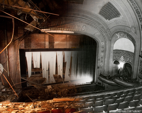 B&W image of Proctor's Palace Theatre courtesy of the American Theatre Architecture Archive of the Theatre Historical Society of America