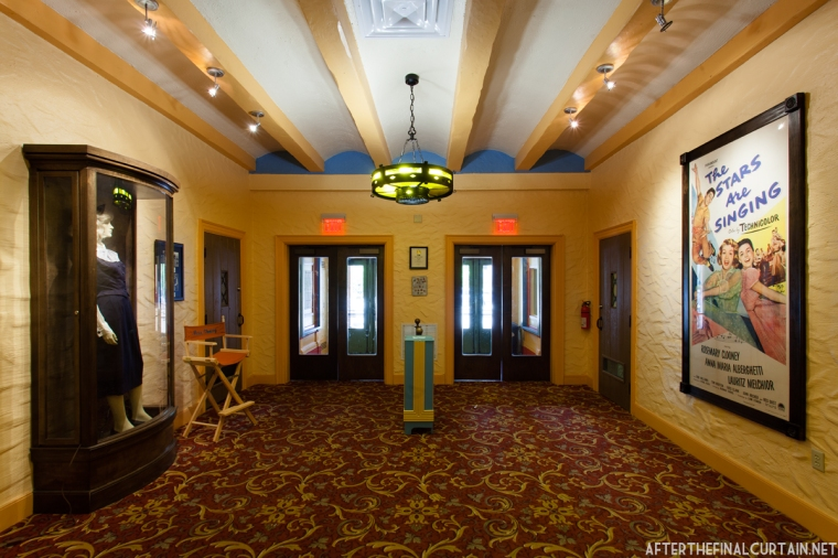 The theater's lobby has already been restored.