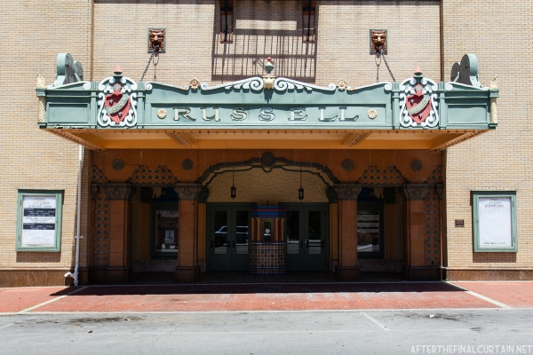 The restored theater marquee.