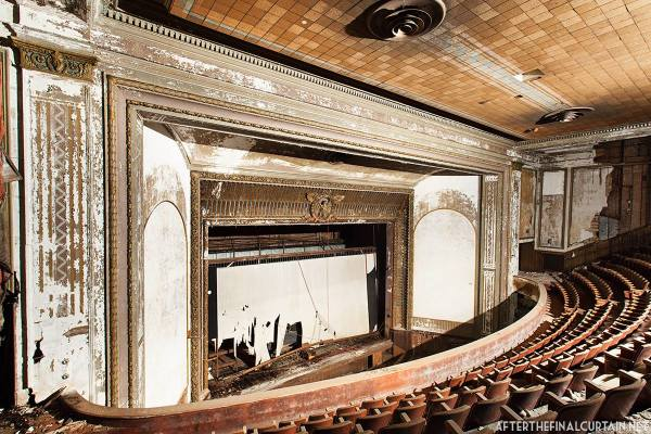 View from the balcony of the Victory Theatre.