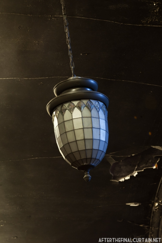 This tiffany lighting fixture is original to the theater.