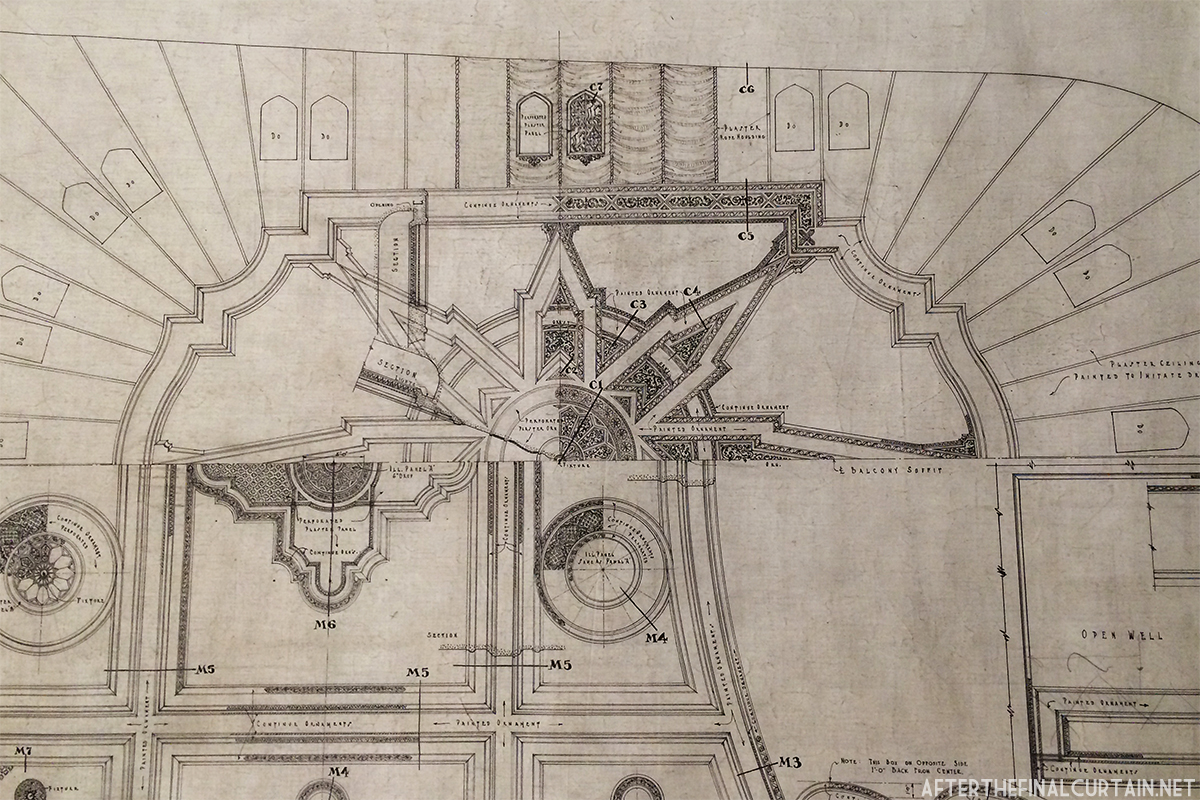 Loews canal theatre after the final curtain auditorium ceiling blueprint malvernweather Images