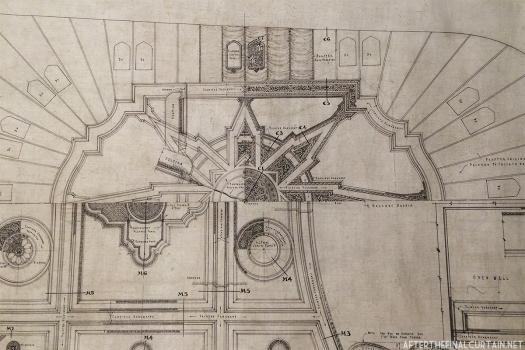 Auditorium ceiling blueprint