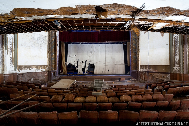 View from the main level of the Victory Theatre.