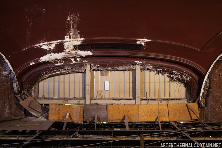 The Proscenium arch was damaged in the 1980's when the stage house was converted in to condominiums.