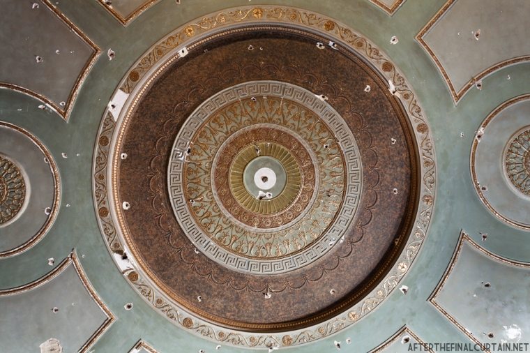 The ceiling of the auditorium.