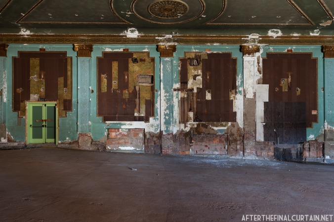 The walls of the theater were hidden for almost 50 years.