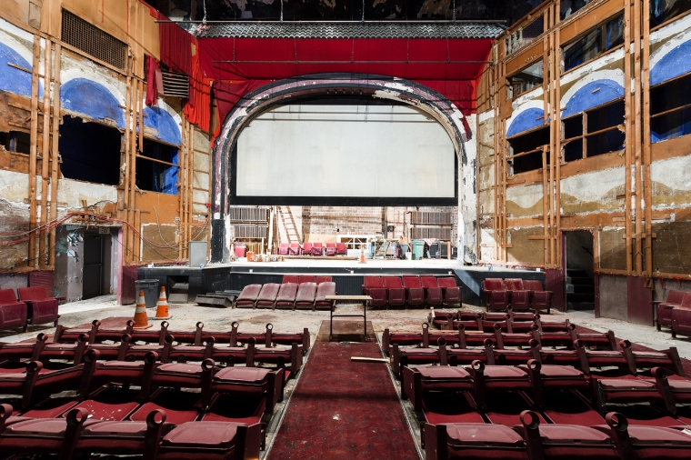View of the auditorium from the orchestra level.