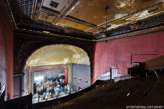 The balcony of the Arcade Theatre in Los Angeles, California
