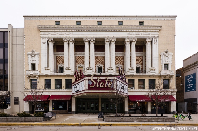 Exterior of the State Theatre in South Bend, Indiana