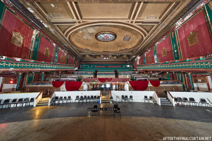 Auditorium as seen from the stage of the State Theatre in South Bend, Indiana