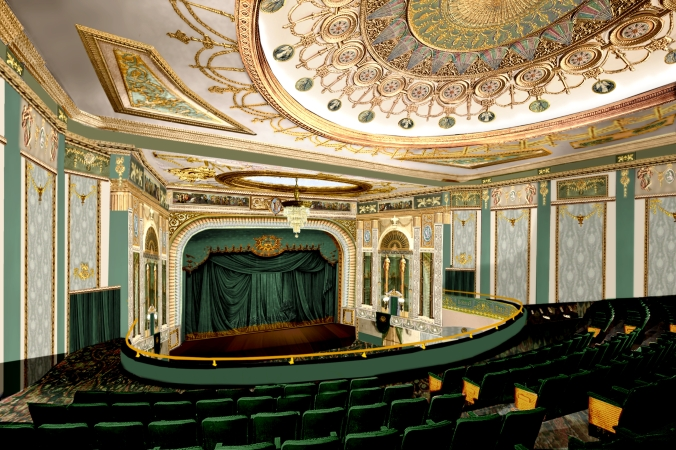 A digital restoration of the madison theater in Peoria IL